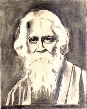 tagore jpg  Rabindranath Tagore Sketch Picture